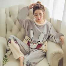 Women's Warm Cute Animals Printed Pajamas